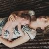 Фото новорожденной девочки с мамой