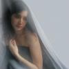 Портретная фотосъемка с тканями