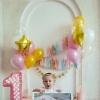 фотосессия 1 год с шариками