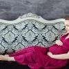 Пурпурное платье в пол 42-46