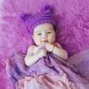 сиреневая шапочка 3-6 месяцев, марлечка