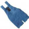 синий аксессуар из мохера  0-1 месяц