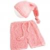 розовый комплект из мохера  0-1 месяц