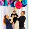 Семейная фотосессия в студии топбанана