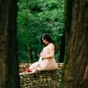 Беременность. Фото в парке